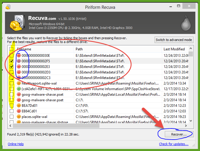 Recover Deleted files  (3)