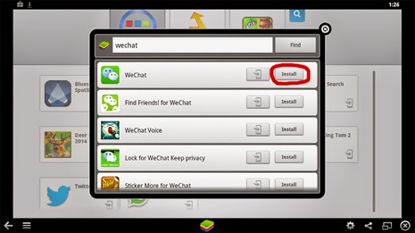 wechat on bluestacks
