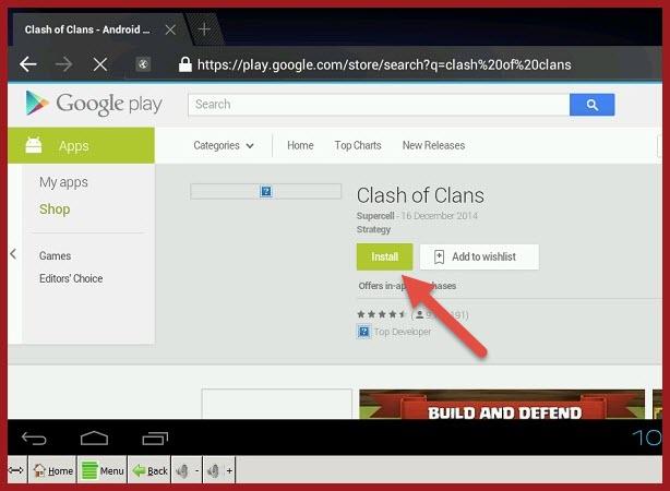 downlaod clash of clans using YouWave steps (2)