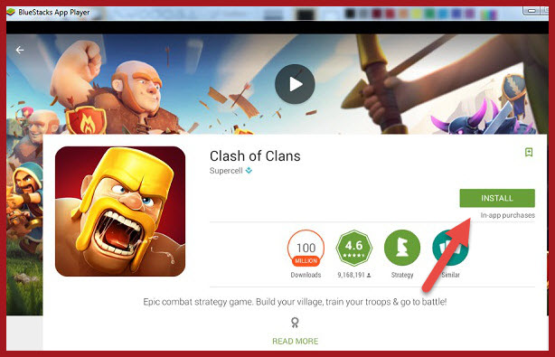 downlaod clash of clans using bluestacks steps (1)