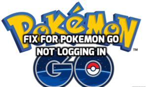 fix for pokemon go not logging in